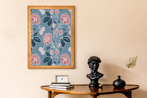 Load image into Gallery viewer, Giclée Print Honiton Lace - Branscombe Blue