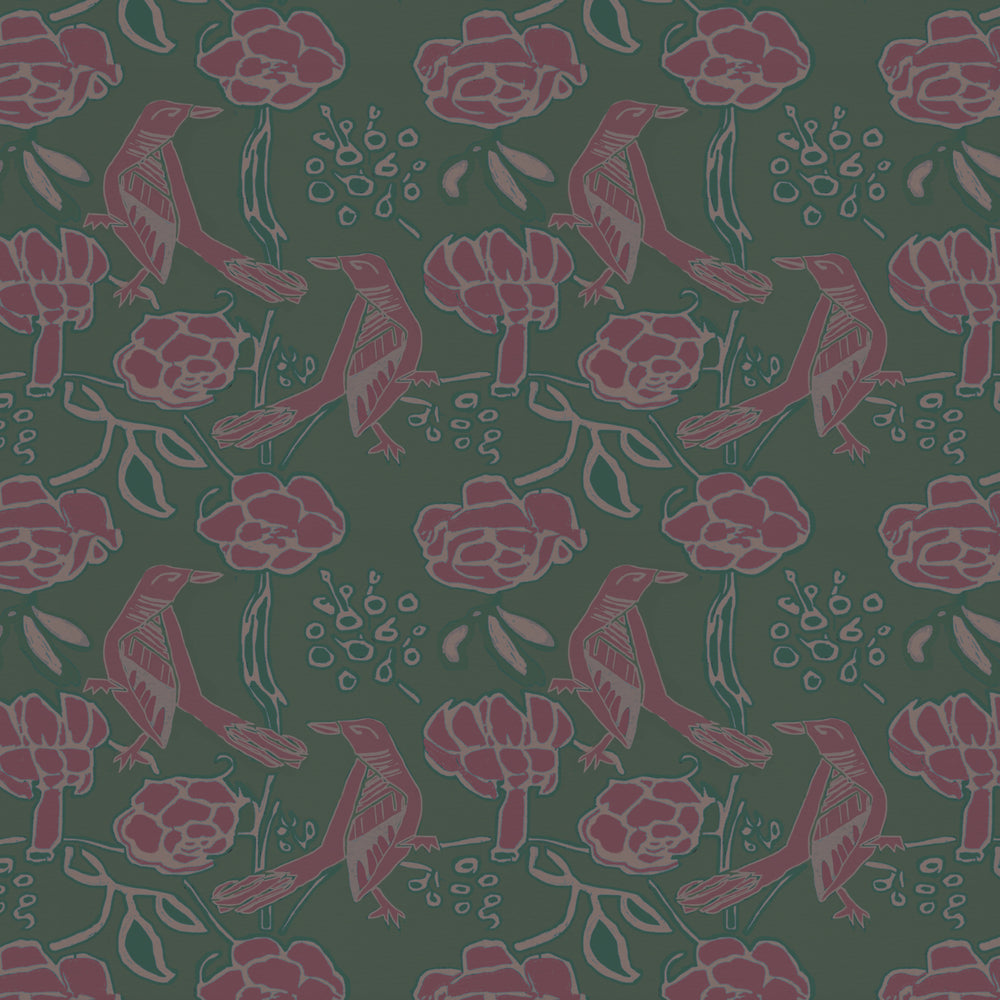 Chattering of Choughs Wallpaper - Hooker and Currant