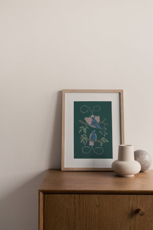 Giclée Print Legless Birds of Paradise - Emerald
