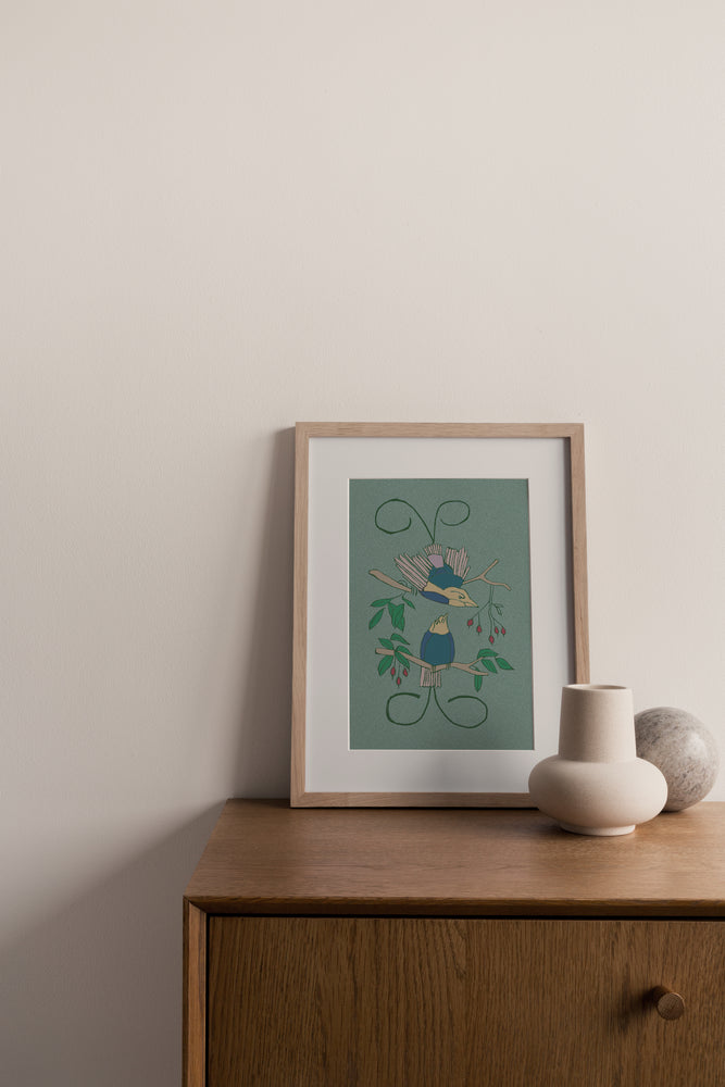 Load image into Gallery viewer, Giclée Print Legless Birds of Paradise - Prehnite