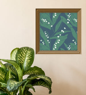 Load image into Gallery viewer, Giclée Print Lily of the Valley - Leaves at Midnight