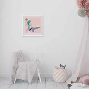 Load image into Gallery viewer, Giclée Print The Anteater - Pink
