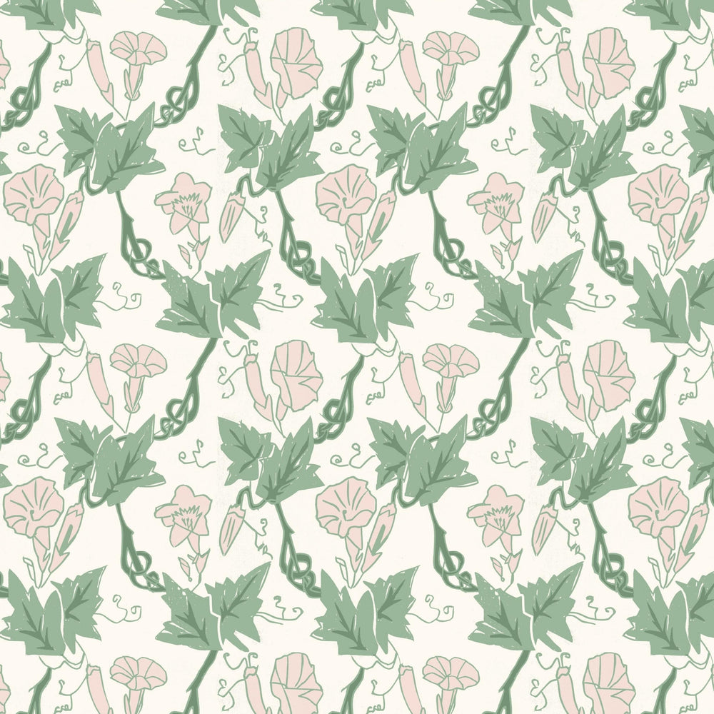 Bindweed Wallpaper- Pink Trumpet