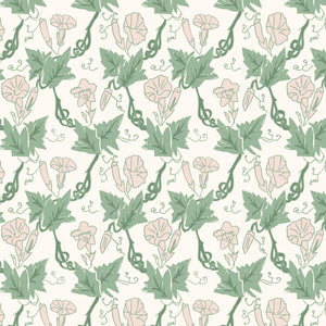 Load image into Gallery viewer, Bindweed Oyster Linen- Pink Trumpet