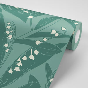 Lily of the Valley Wallpaper - Valley Green