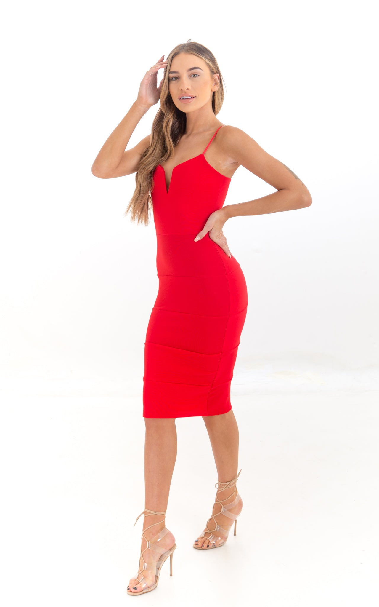 Red Bodycon Pencil Dress