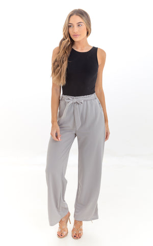 Grey Palazzo Trousers