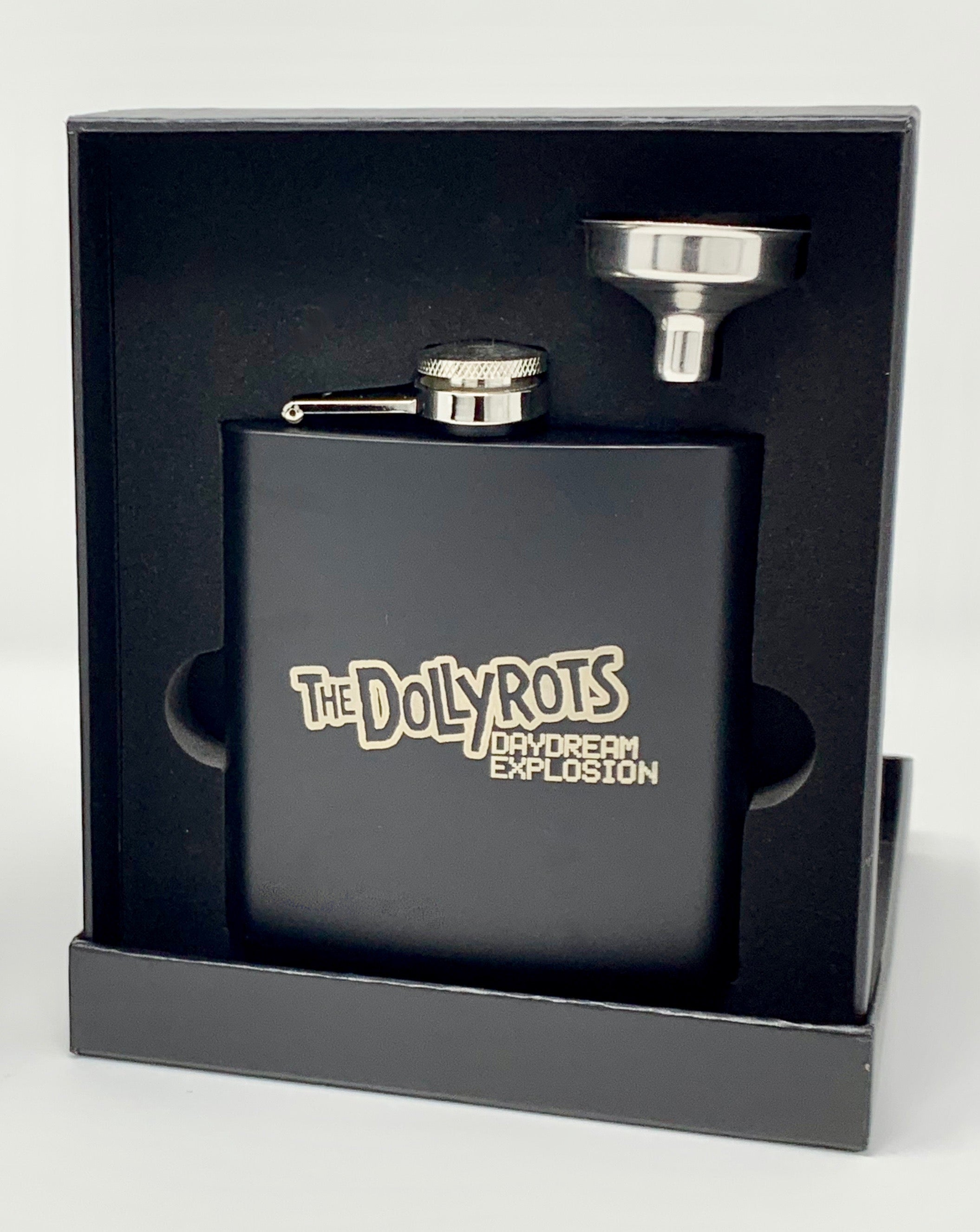 Laser Engraved Flask with Funnel (Comes in Gift Box)