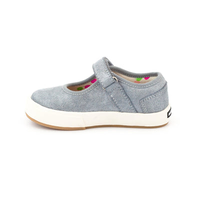 Zutano Shoe Charlotte Mary Jane Girls Shoe - Blue Gray