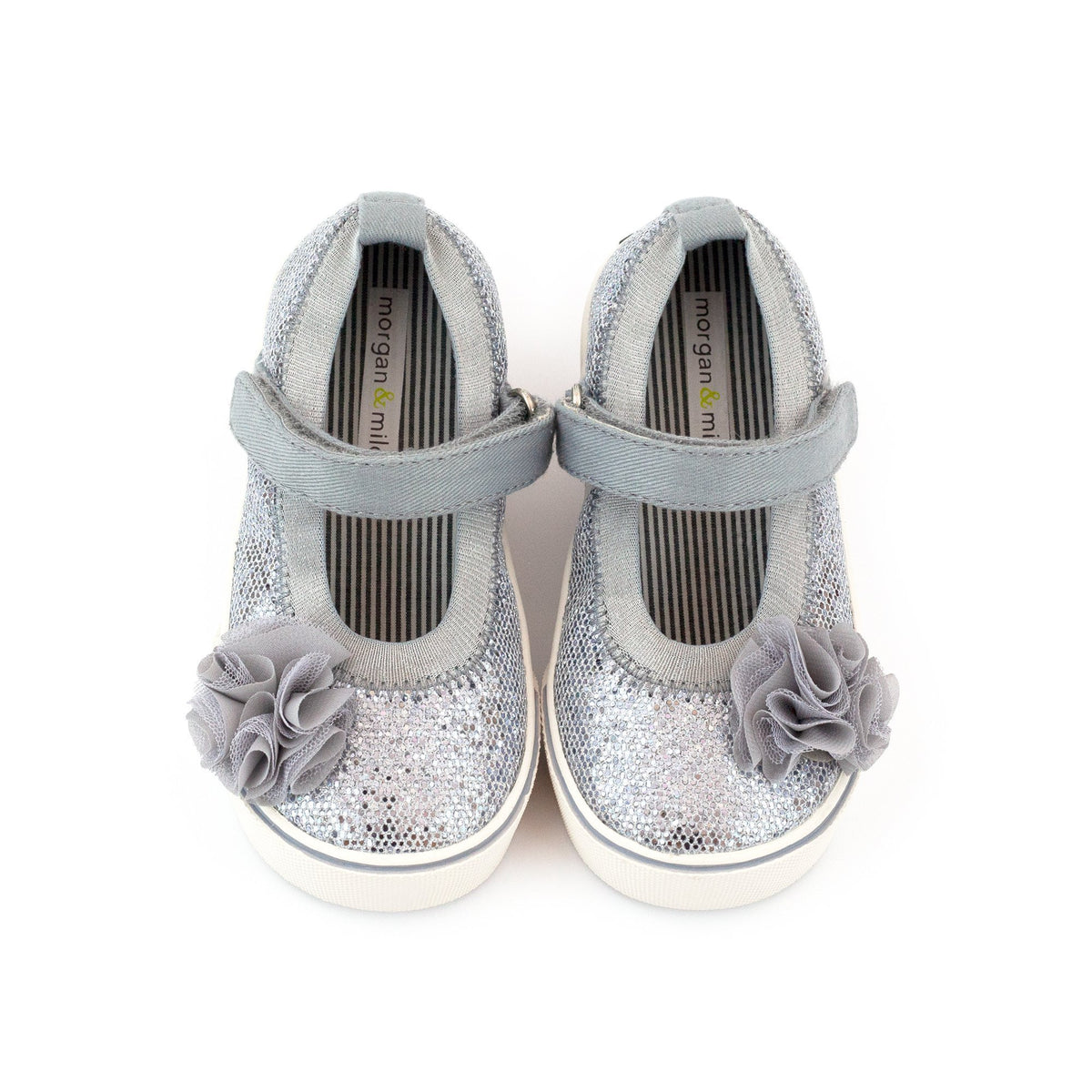 Zutano Shoe Dazzle Mary Jane Girls Shoe - Disco Silver