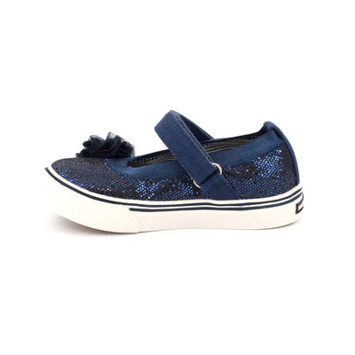 Zutano Shoe Dazzle Mary Jane Girls Shoe - Navy