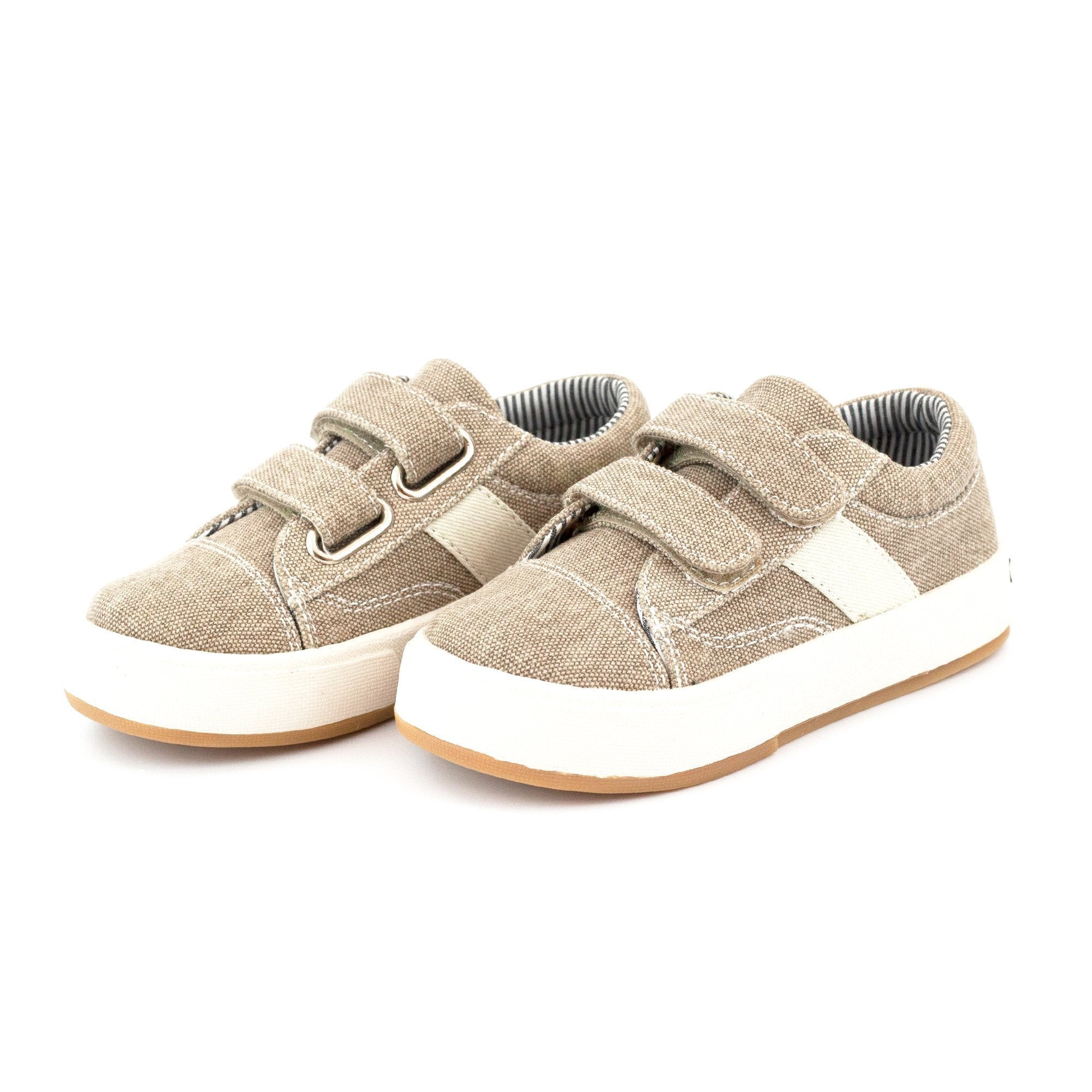 Zutano Shoe Miles Double V Kids Shoe - Khaki