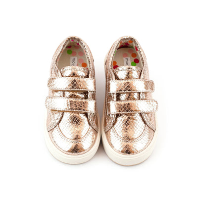 Zutano Shoe Nina Double V Girls Shoe - Rose Gold