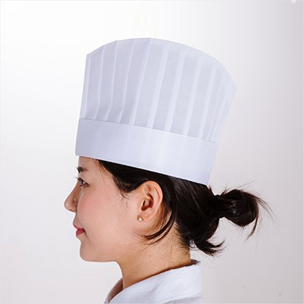 SG-EU Disposable Chef Hat - 8.7 Inch Height (20 pcs)