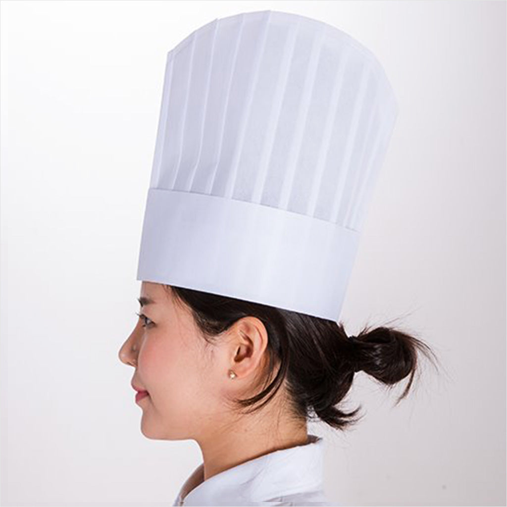 SG-EU Disposable Chef Hat - 10.6 Inch Height (20 pcs)