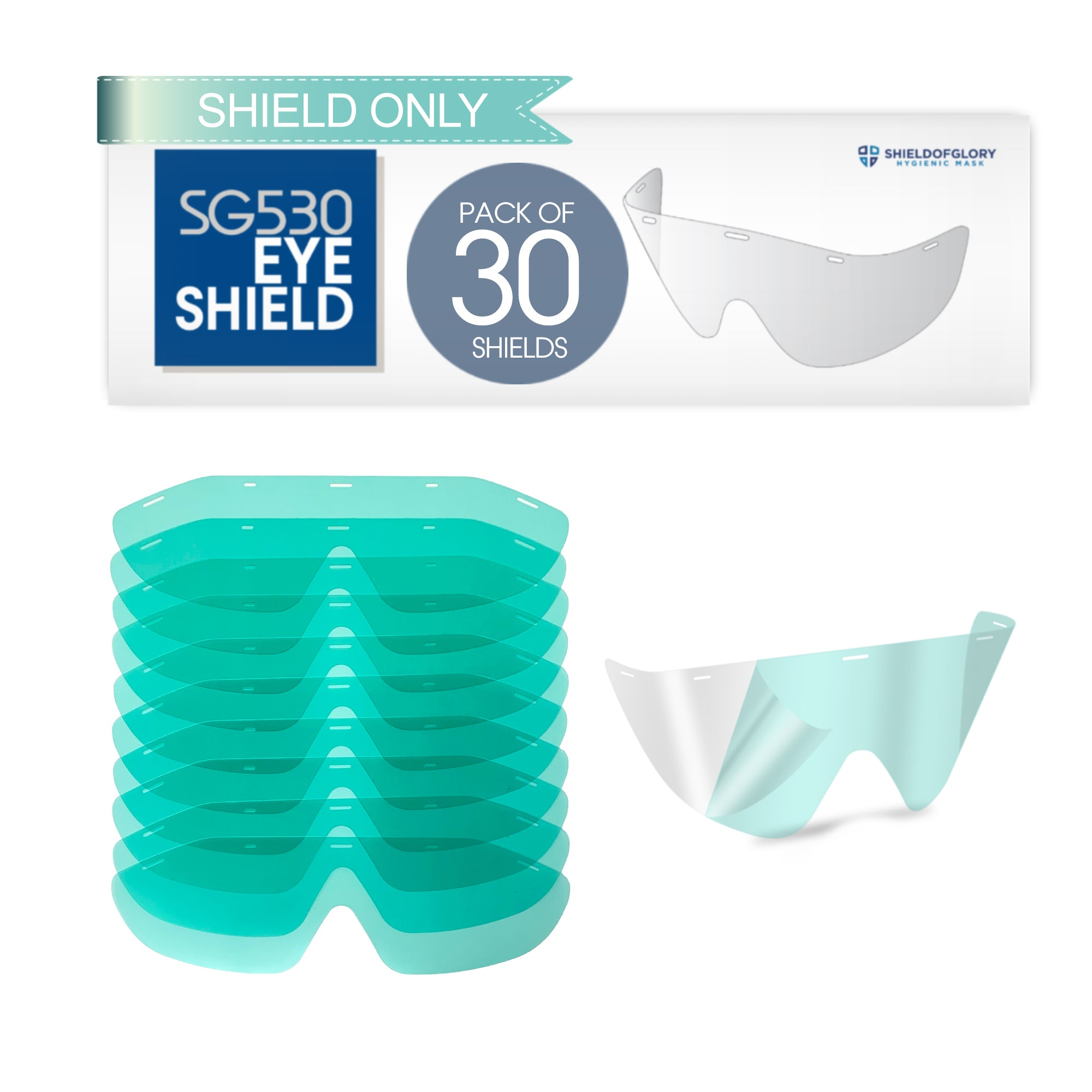 SG530 Eye shield Only- Replacement (30-Pack)