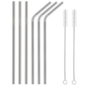 Stainless Steel Straws & Straw Cleaner