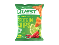 Chilli Lime Tortilla Style Protein Chips single