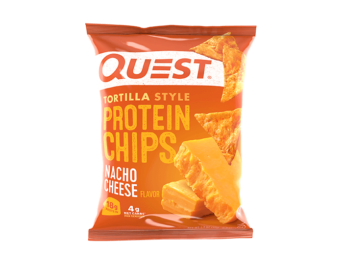 Nacho Cheese Tortilla Style Protein Chips single