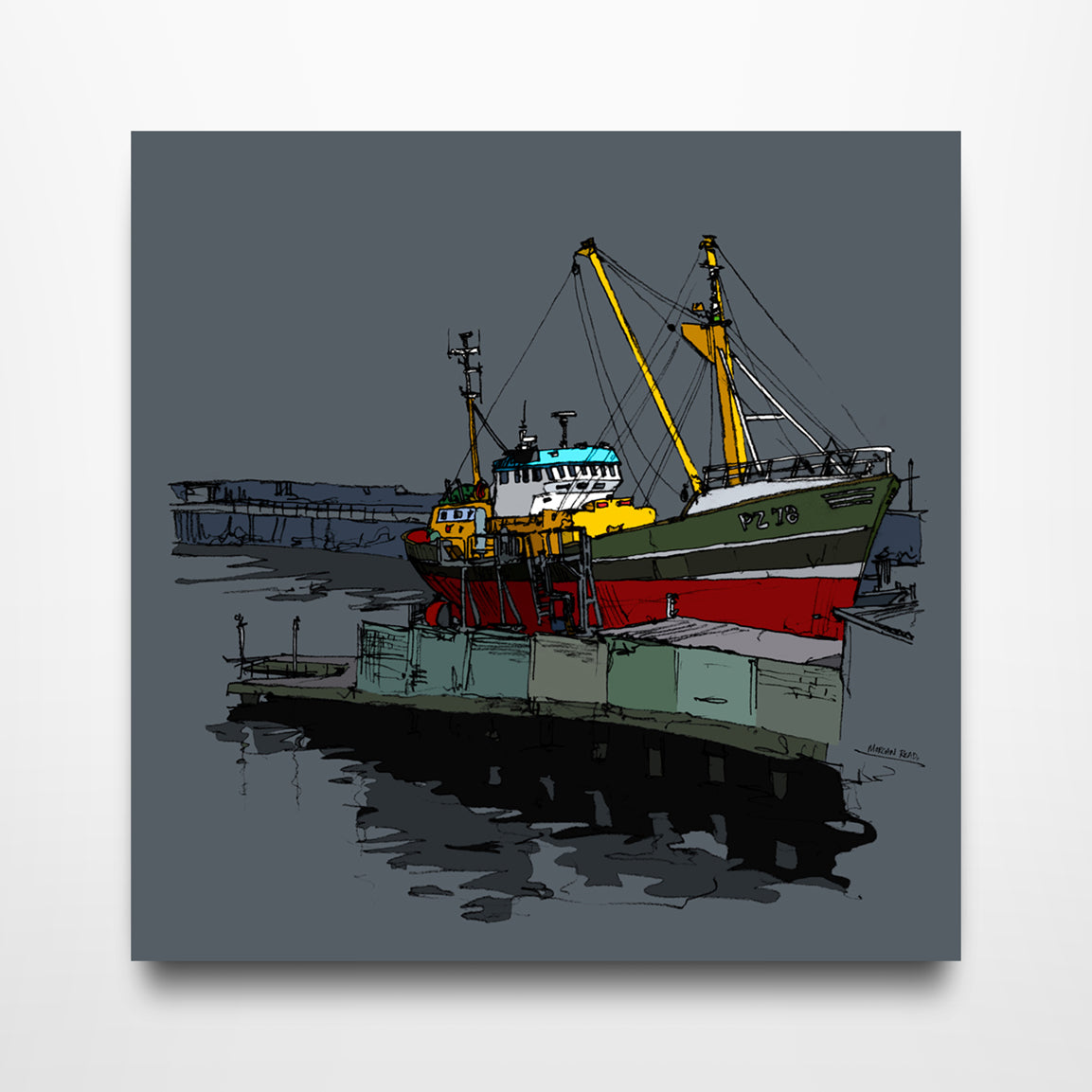 Bottom Scub - Canvas Print