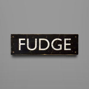 Fudge - Sign