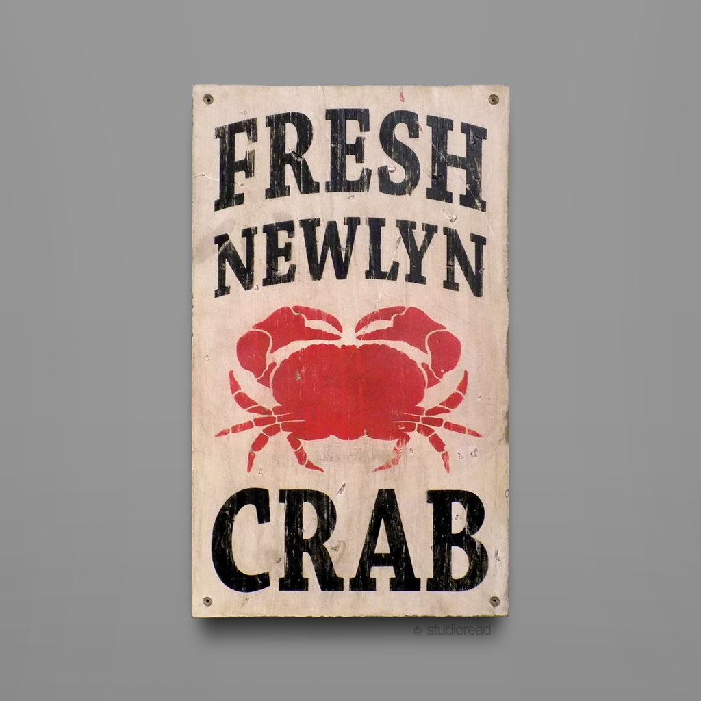 Fresh Newlyn Crab - Sign