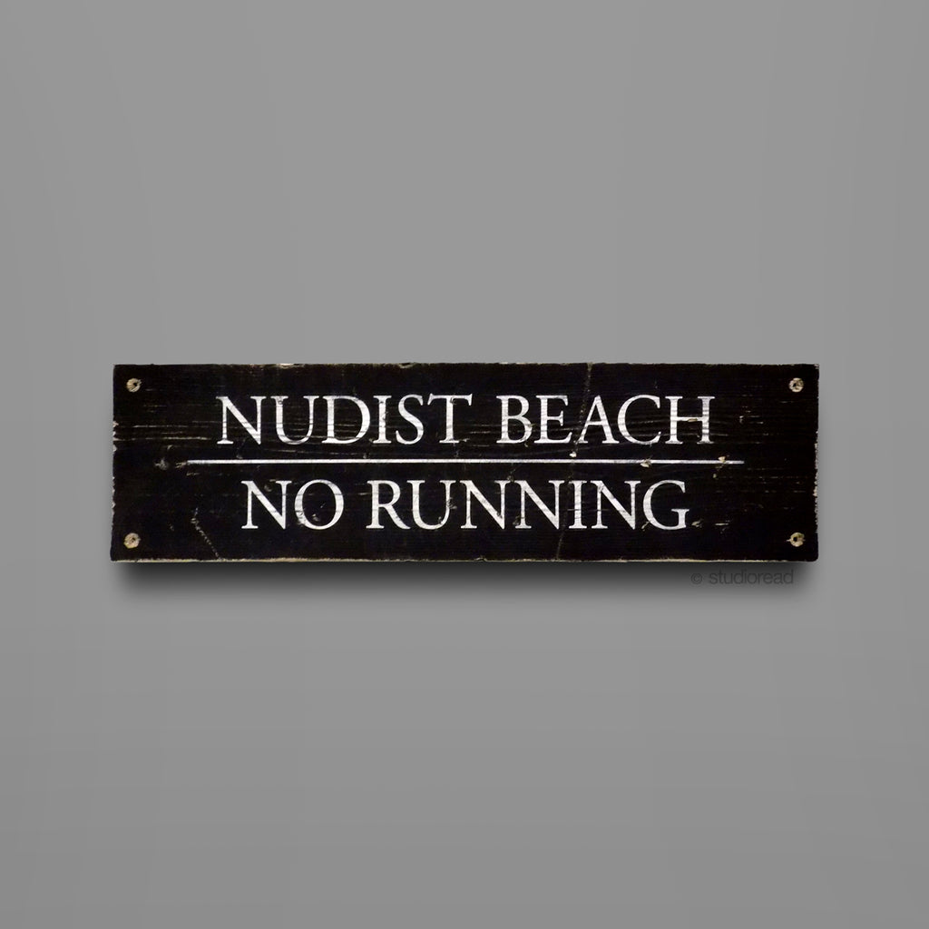 Nudist Beach - Sign