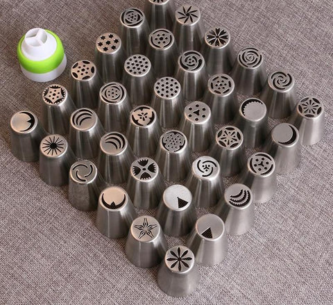 36Pcs Stainless Steel Russian Piping Tips
