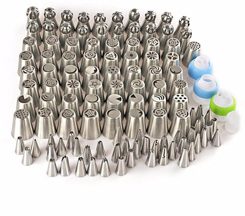 116PCS Stainless Steel Icing Piping Nozzles