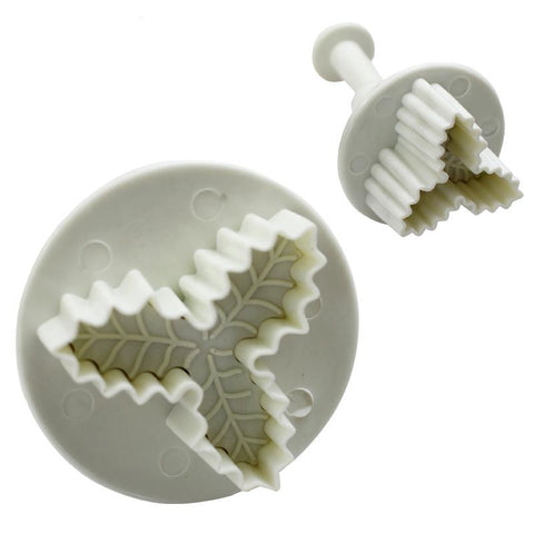 2pcs Triangular Leaves Sugarcraft Plunger Cutters