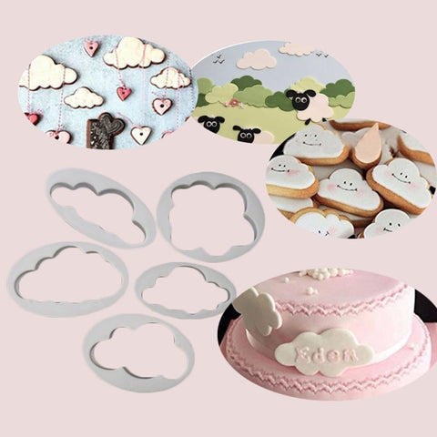 5pcs cloud fondant cutter