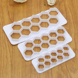 3 pcs Geometry Honeycomb Fondant Cutter
