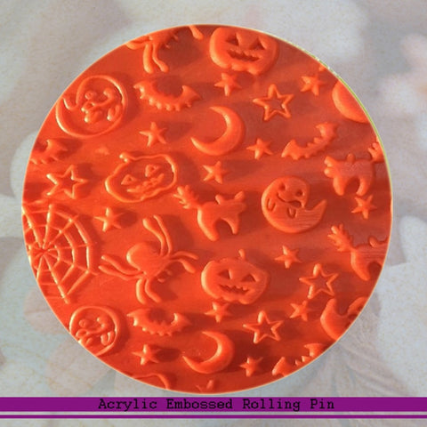 Halloween-themed  Fondant Embossed Rolling Pin