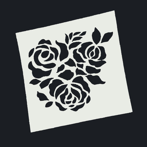 3 roses Stencil