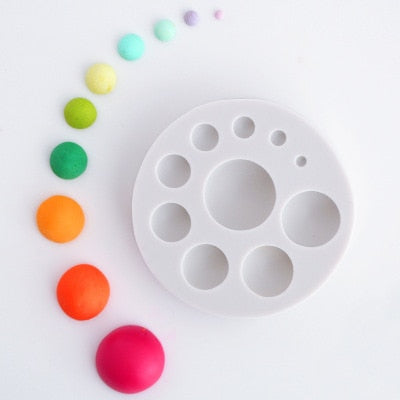 Round circle silicone mold