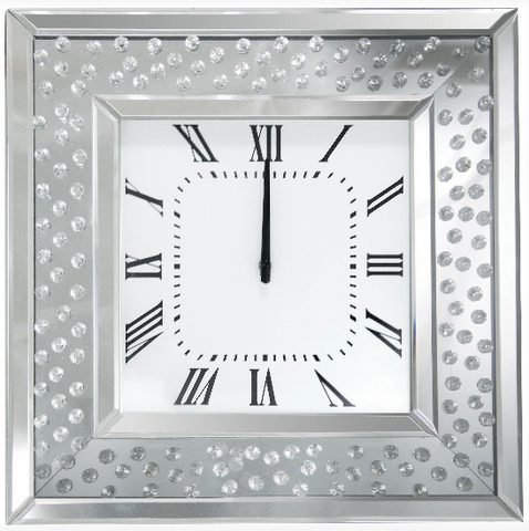 wall-clock-mirrored-anthony's furniture & decor