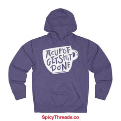 A Cup Of Get Shit Done Coffee Hoodie - Purple Heather / Xs - Hoodie