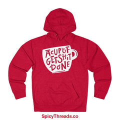 A Cup Of Get Shit Done Coffee Hoodie - Red Heather / L - Hoodie