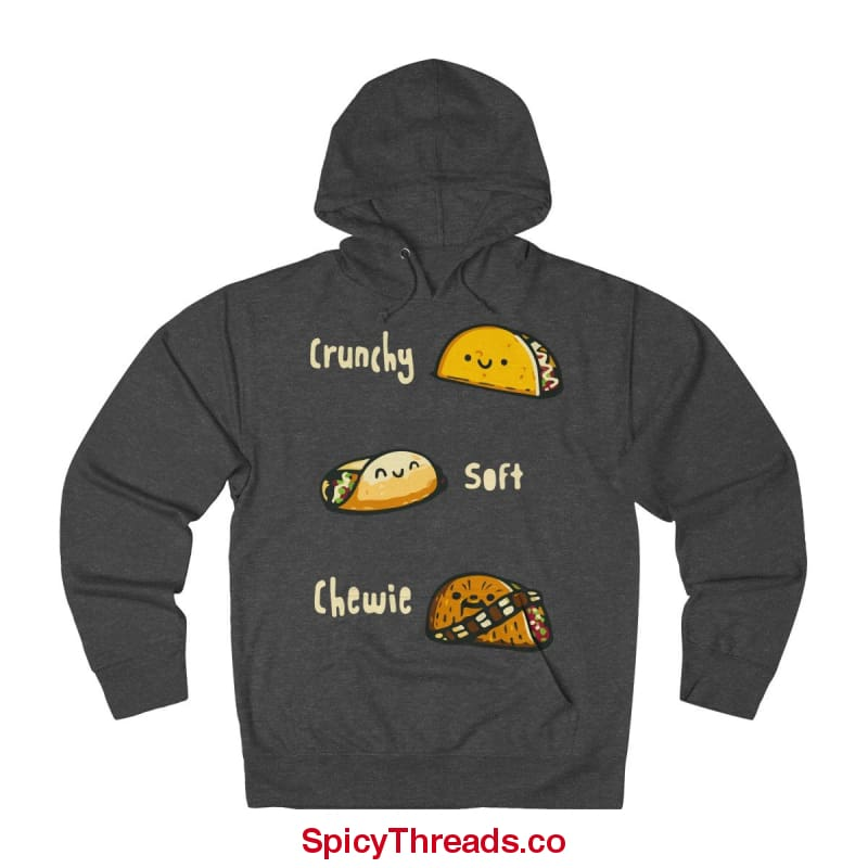 Crunchy Soft Chewie Tacos Hoodie - Charcoal Heather / Xs - Hoodie