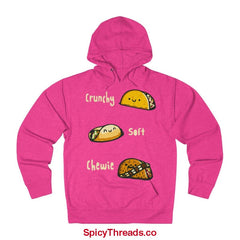 Crunchy Soft Chewie Tacos Hoodie - Heliconia Heather / Xs - Hoodie