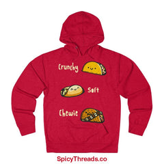 Crunchy Soft Chewie Tacos Hoodie - Red Heather / L - Hoodie