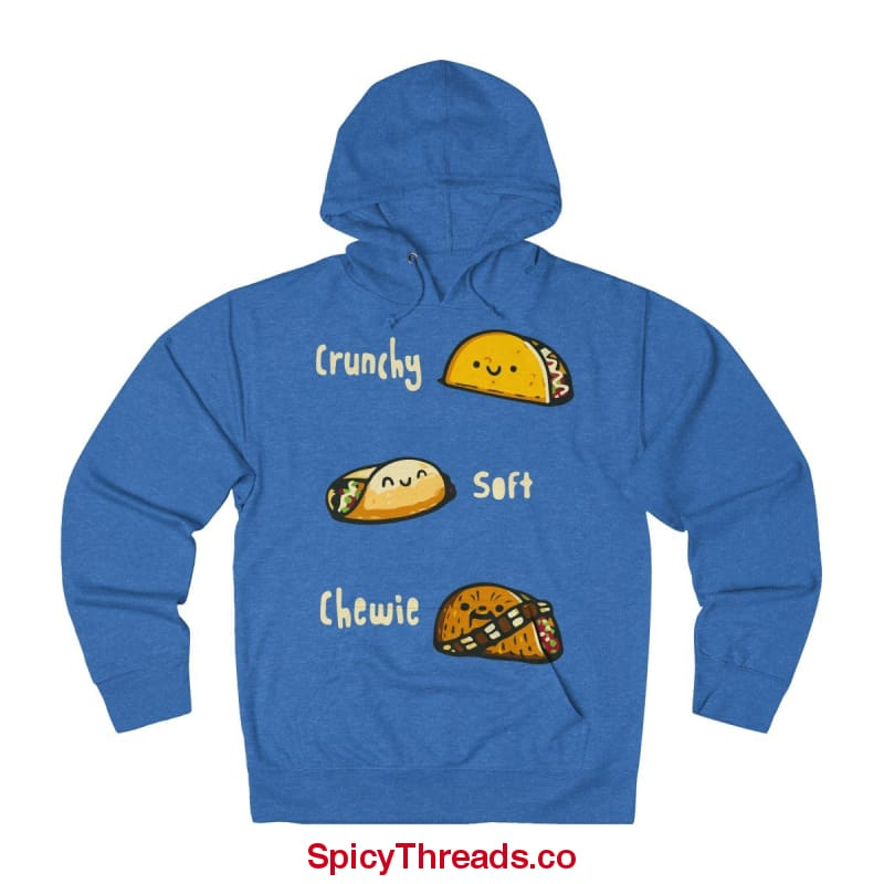 Crunchy Soft Chewie Tacos Hoodie - Royal Heather / Xs - Hoodie