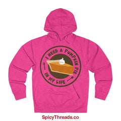 I Need A Pumpkin Pie In My Life Hoodie - Heliconia Heather / Xs - Hoodie