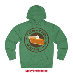 I Need A Pumpkin Pie In My Life Hoodie - Kelly Heather / Xs - Hoodie