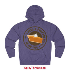 I Need A Pumpkin Pie In My Life Hoodie - Purple Heather / Xs - Hoodie