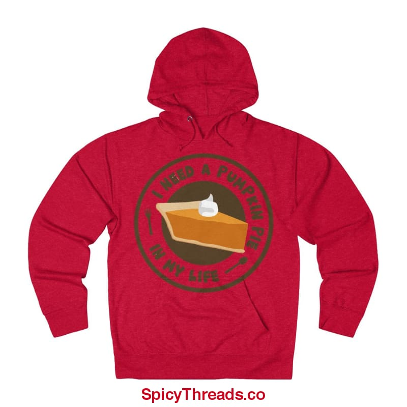 I Need A Pumpkin Pie In My Life Hoodie - Red Heather / Xs - Hoodie