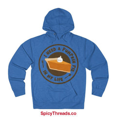 I Need A Pumpkin Pie In My Life Hoodie - Royal Heather / Xs - Hoodie
