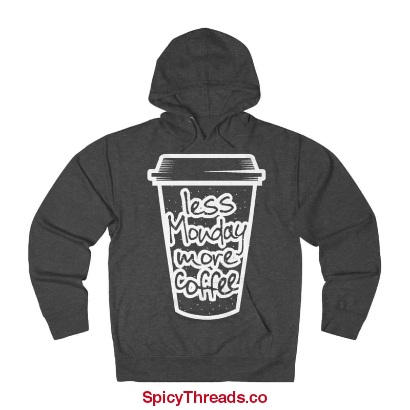Less Monday More Coffee Hoodie - Charcoal Heather / Xs - Hoodie