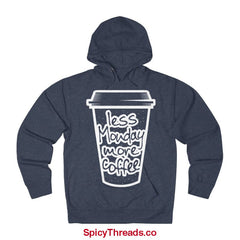 Less Monday More Coffee Hoodie - Denim Heather / Xs - Hoodie