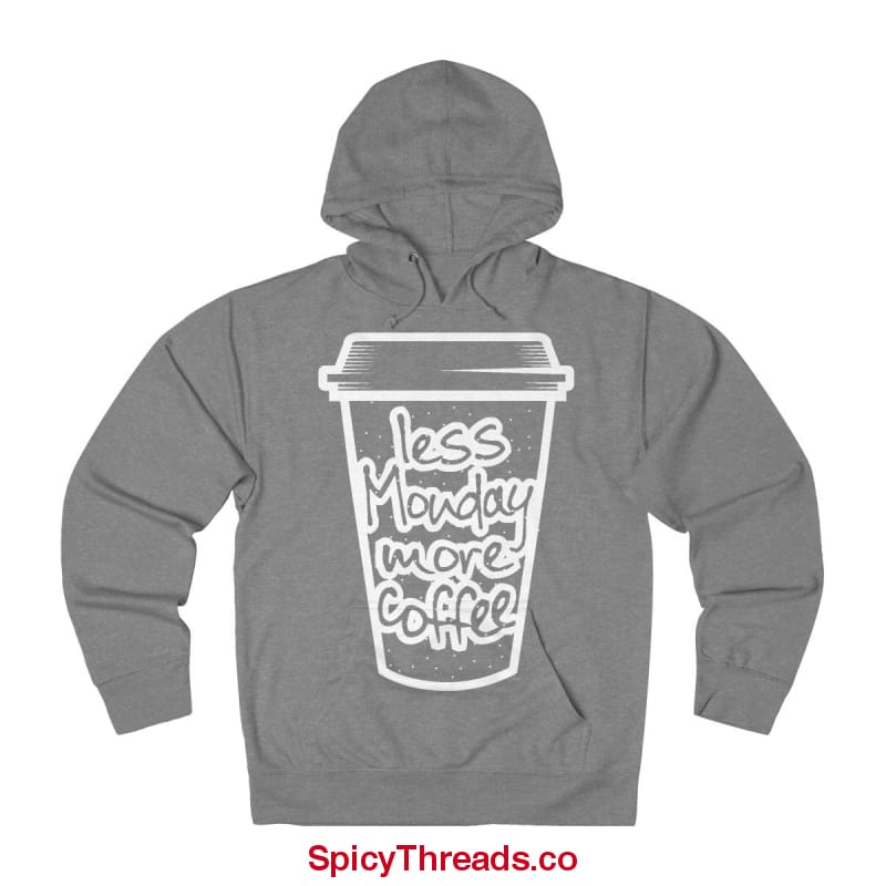 Less Monday More Coffee Hoodie - Graphite Heather / Xs - Hoodie